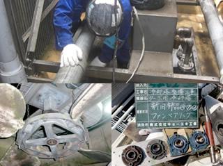 冷却塔の修理(夜間作業にも対応)